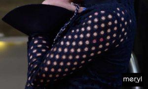 maglia traforata con polsino in raso