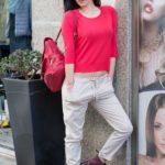 Pantaloni donna e maglia in cotone.