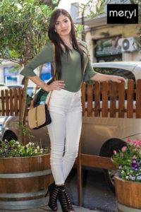 Pantalone e maglia in cotone elasticizzato